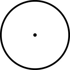 时钟圆框和圆点
